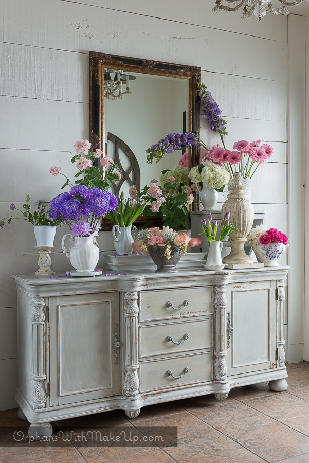 Sold Shabby Chic Vintage Buffet Credenza Sideboard Orphans